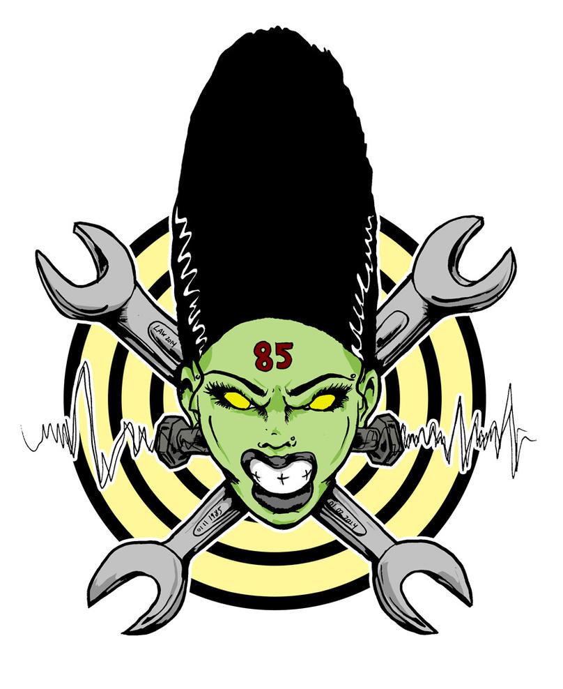 Bride of Frankenstein - Hot Rod Logo by luvataciousskull