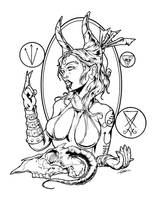 Forutna Satania by luvataciousskull