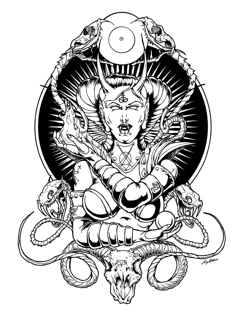 Her Satanic Majesty by luvataciousskull