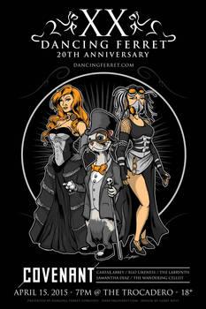 Dancing Ferret 20th Anniversary Poster