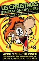 Caustic Casanova Gig Poster by luvataciousskull