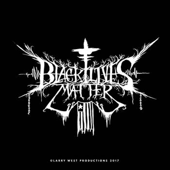 Black Lives Matter Black Metal Logo