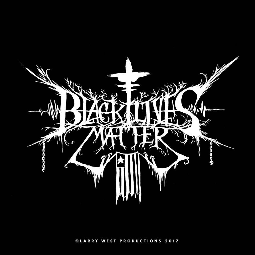 Black Lives Matter Black Metal Logo