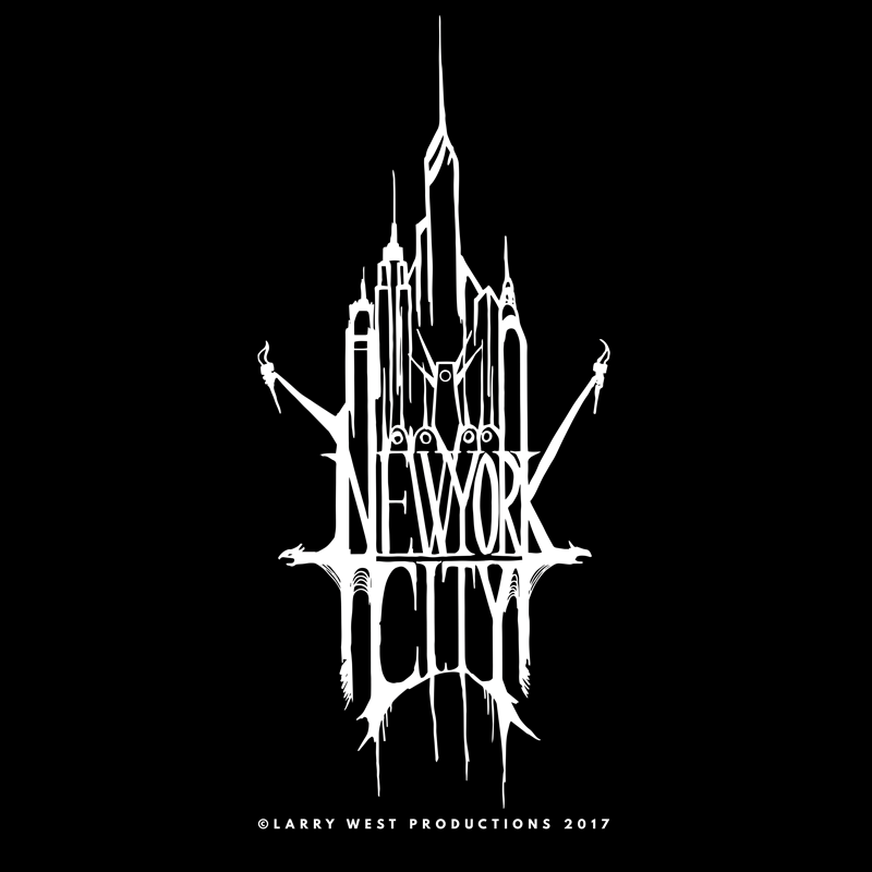 New York City Black Metal Logo by luvataciousskull
