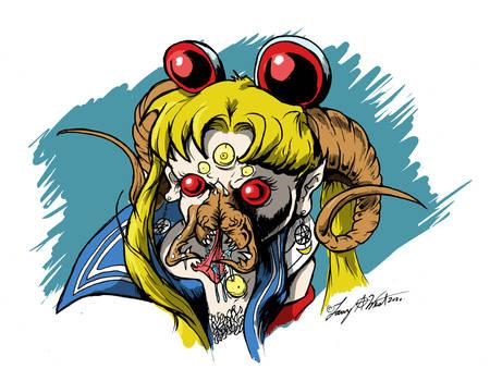 Eldritch Horror Sailor Moon Redraw Challenge!