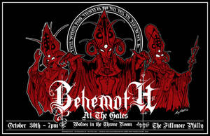 Behemoth Gig Poster - Phila, PA 2018 - Movie Style