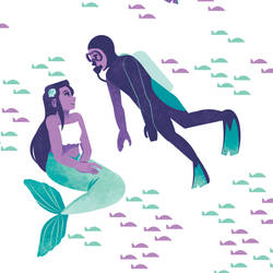 Mermaid and Scuba