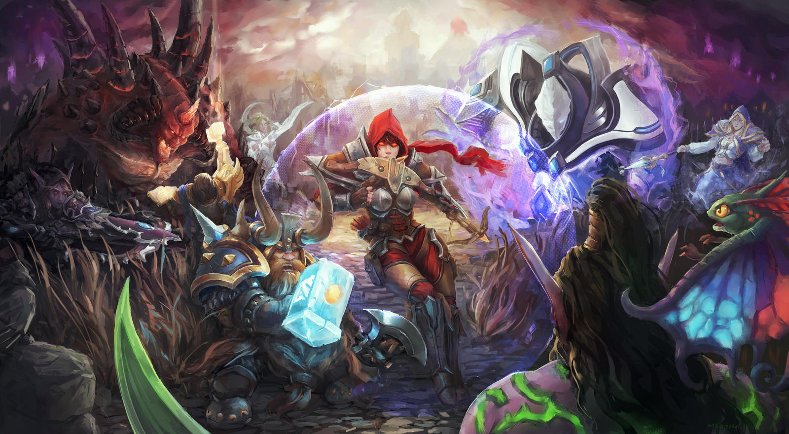 Team Fight by MartinCi