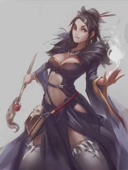 female mage