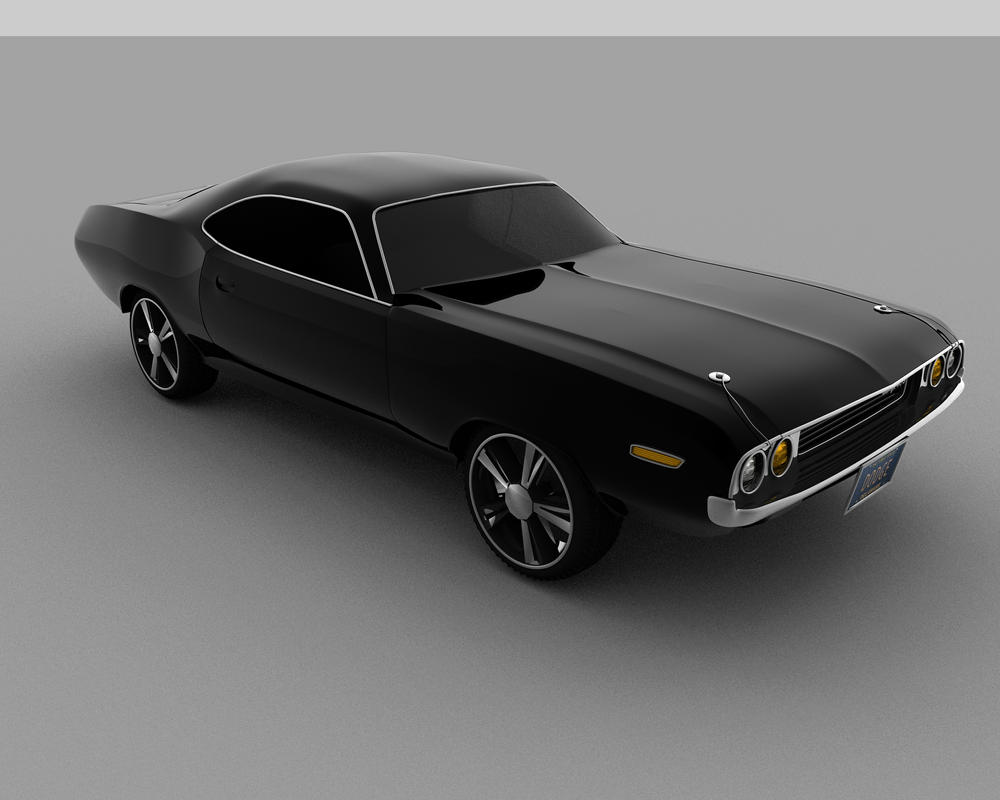 Black Dodge Challenger by annihlator on DeviantArt