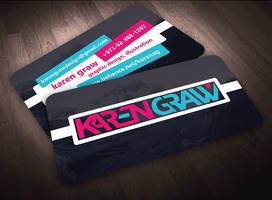 Karen Graw Business Card Design Concept 1