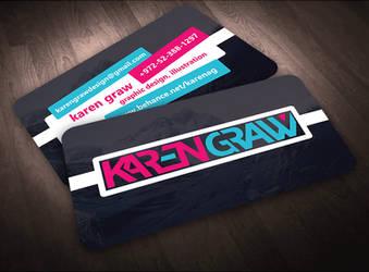 Karen Graw Business Card Design Concept 1