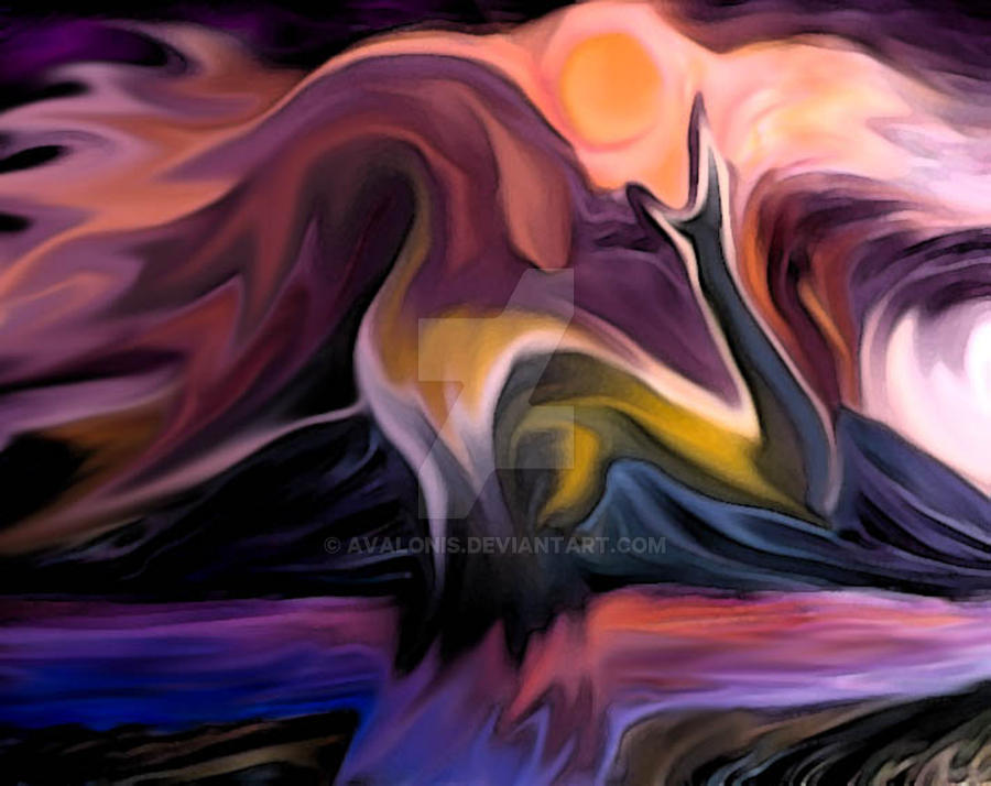 Abstract Watercolor Woman by Avalonis