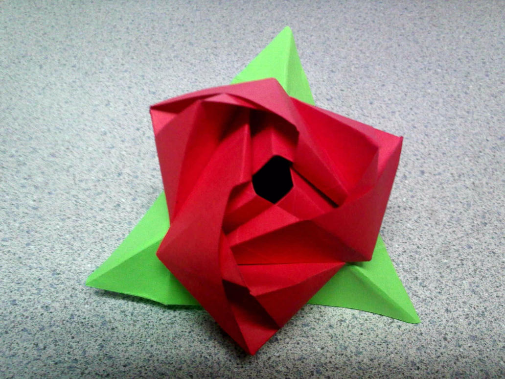 Magic Rose Cube Rose Form By Theorigamiarchitect On Deviantart