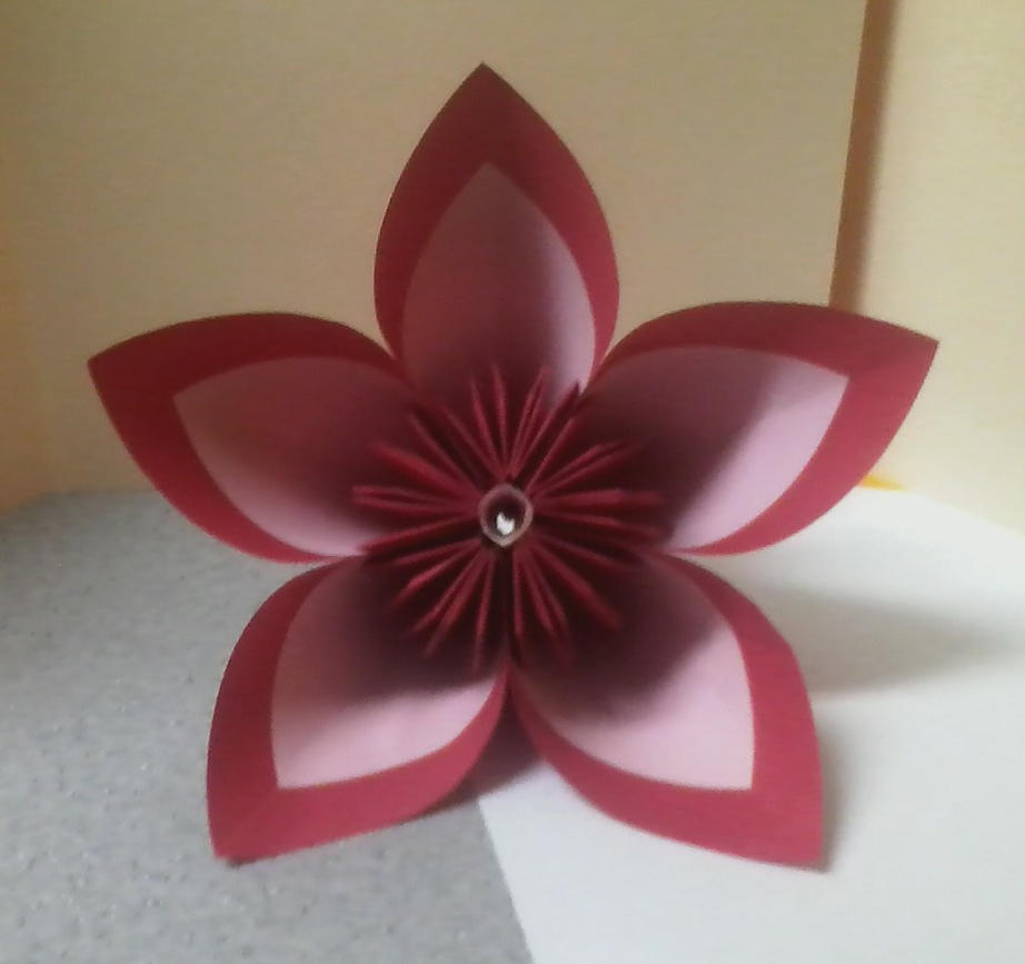 Redpink Kusudama Flower By Theorigamiarchitect On Deviantart