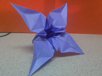My Own Origami Lily Variation by TheOrigamiArchitect