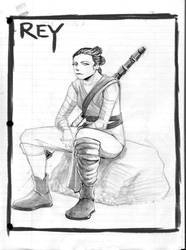 The Force Awakens - Rey by art-of-stroke