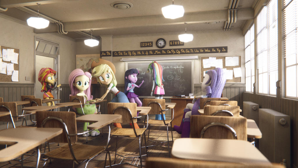 Equestria Girls - Classmates by Varcon