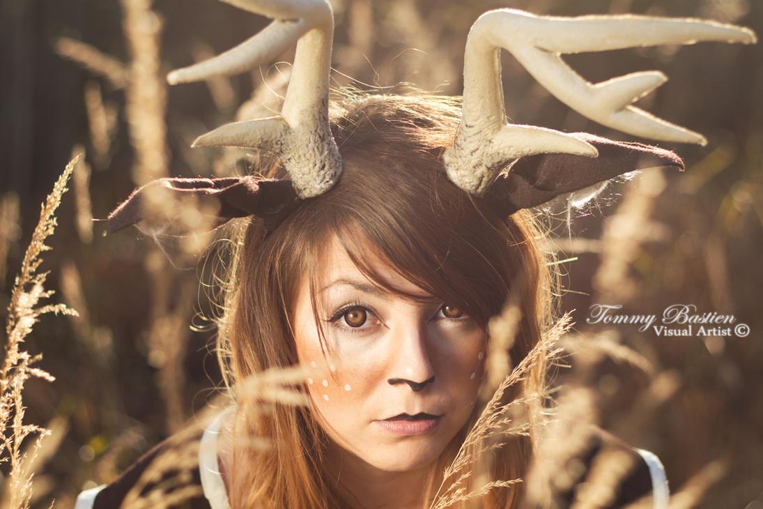 -Deer Spirit- At Sunset II by TommyBastien
