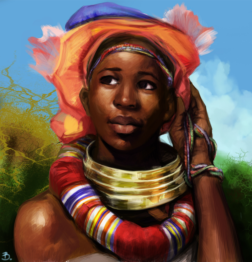 African American Wallpaper: African Girl By Vessyos On DeviantArt