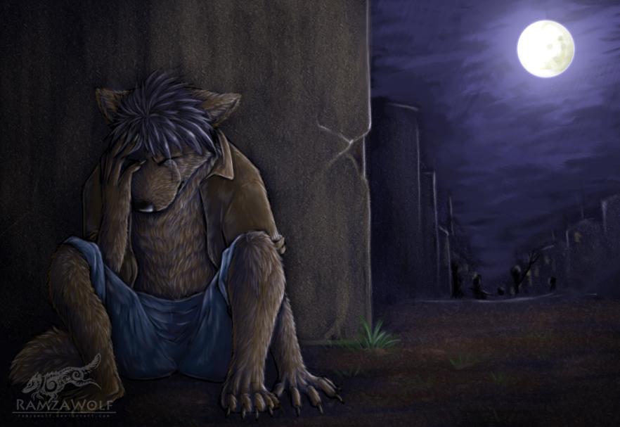 Lone Werewolf By Ramzawolf On Deviantart
