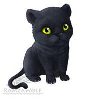 Chibi Panther by RamzaWolf