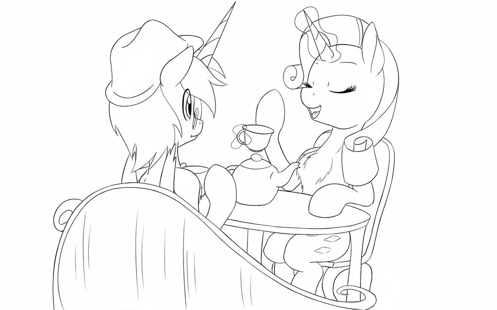 Nava talking to Rarity by loin323