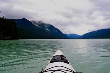 Kayak on Chilkoot Lake