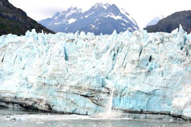 calving of a glacier