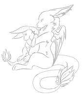 F2U angel dragon base by holyhell111