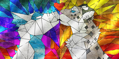 stainedglass linked icons by holyhell111