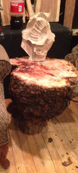 Cherry Burl coffee end table  by vincentr971