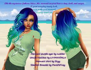 Zeneidi hairstyle in Mermaid