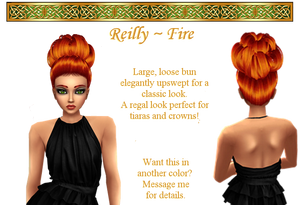 Reilly hairstyle in Fire