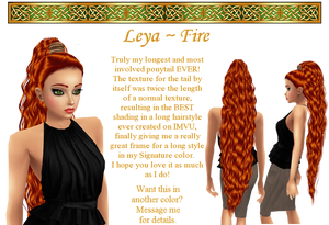 Leya hairstyle in Fire