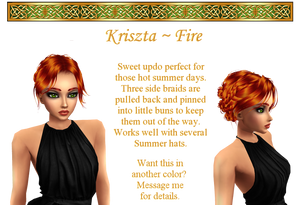 Kirszta hairstyle in Fire