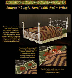 Wrought Iron Bed in White
