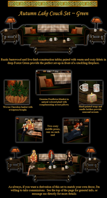 Autumn Lake Couch and Table Set