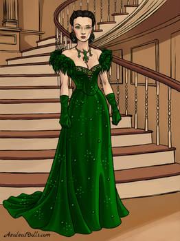 Scarlett's Dress of Shame in Green