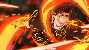 Muzan vs Yoriichi anime style-Demon Slayer