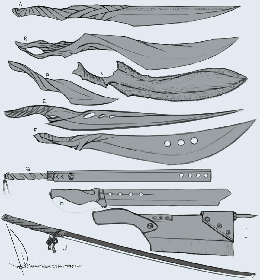 drawingbundle 3 - Sword designs by kaniphish on DeviantArt