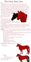 Blood Horse Breed Sheet by Creature-of-the-Wood