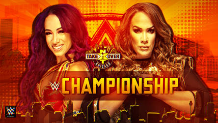 WWE NXT TakeOver Chicago 2018 Custom Match Card HD