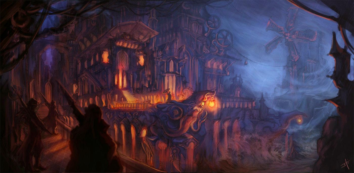 Everain's Castle by liyart