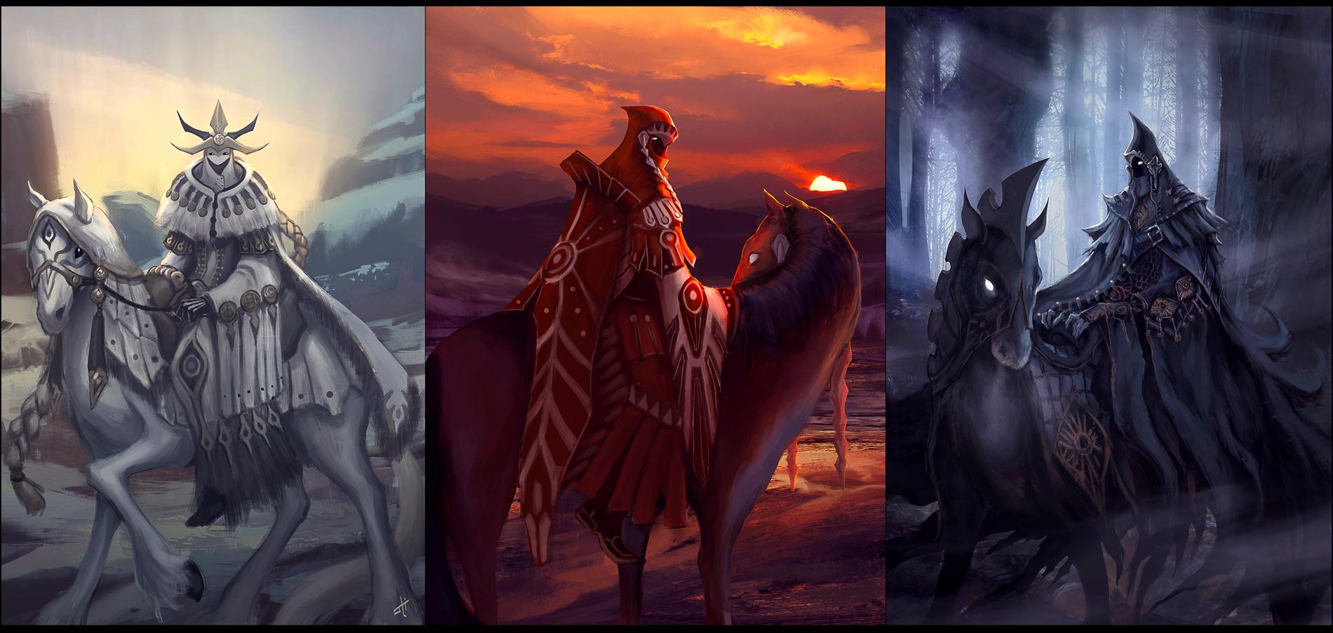 Three Horsemen by liyart