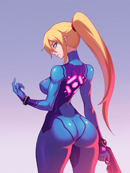 Zero Suit Samus by liyart