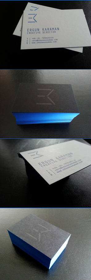 Self promotional material - Business cards