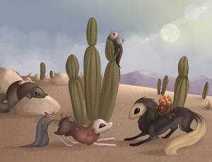 Arid Esk Play Date by Smelly-Mouse