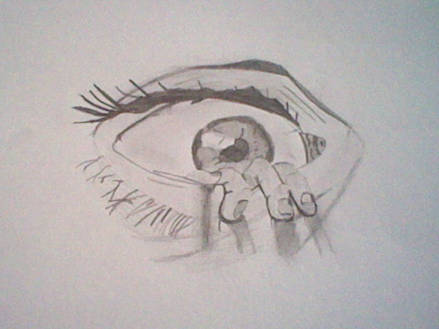 how to draw an eye for11 year olds