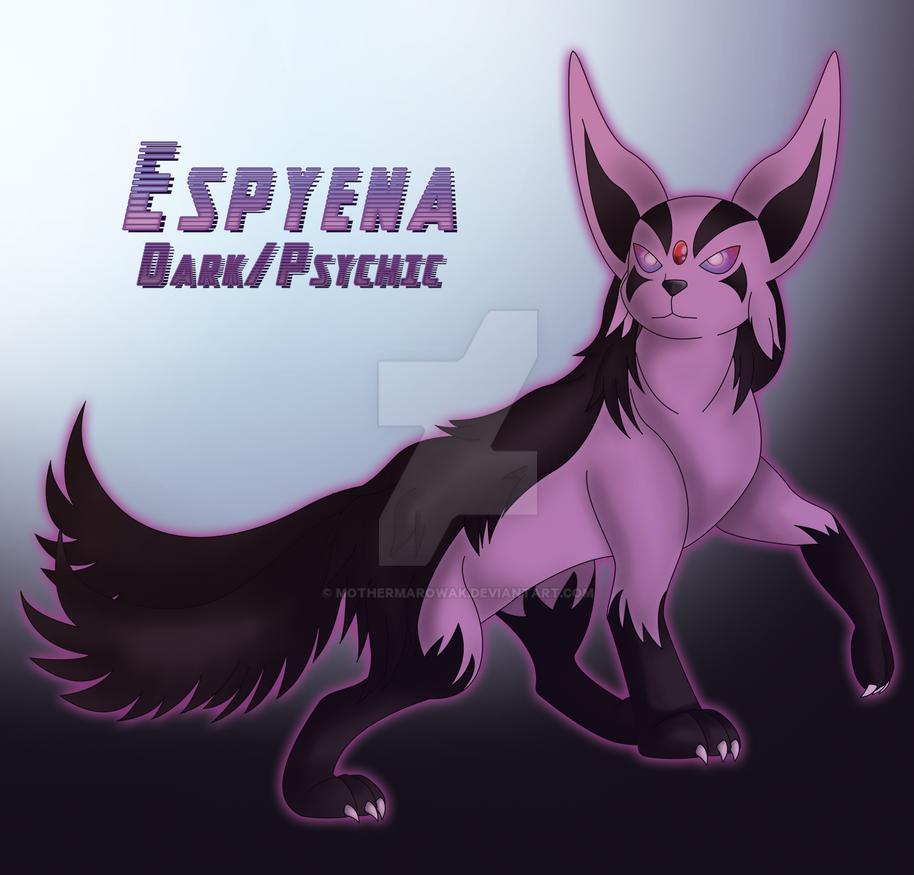 Espyena (Espeon/Mightyena Hybrid) by MotherMarowak